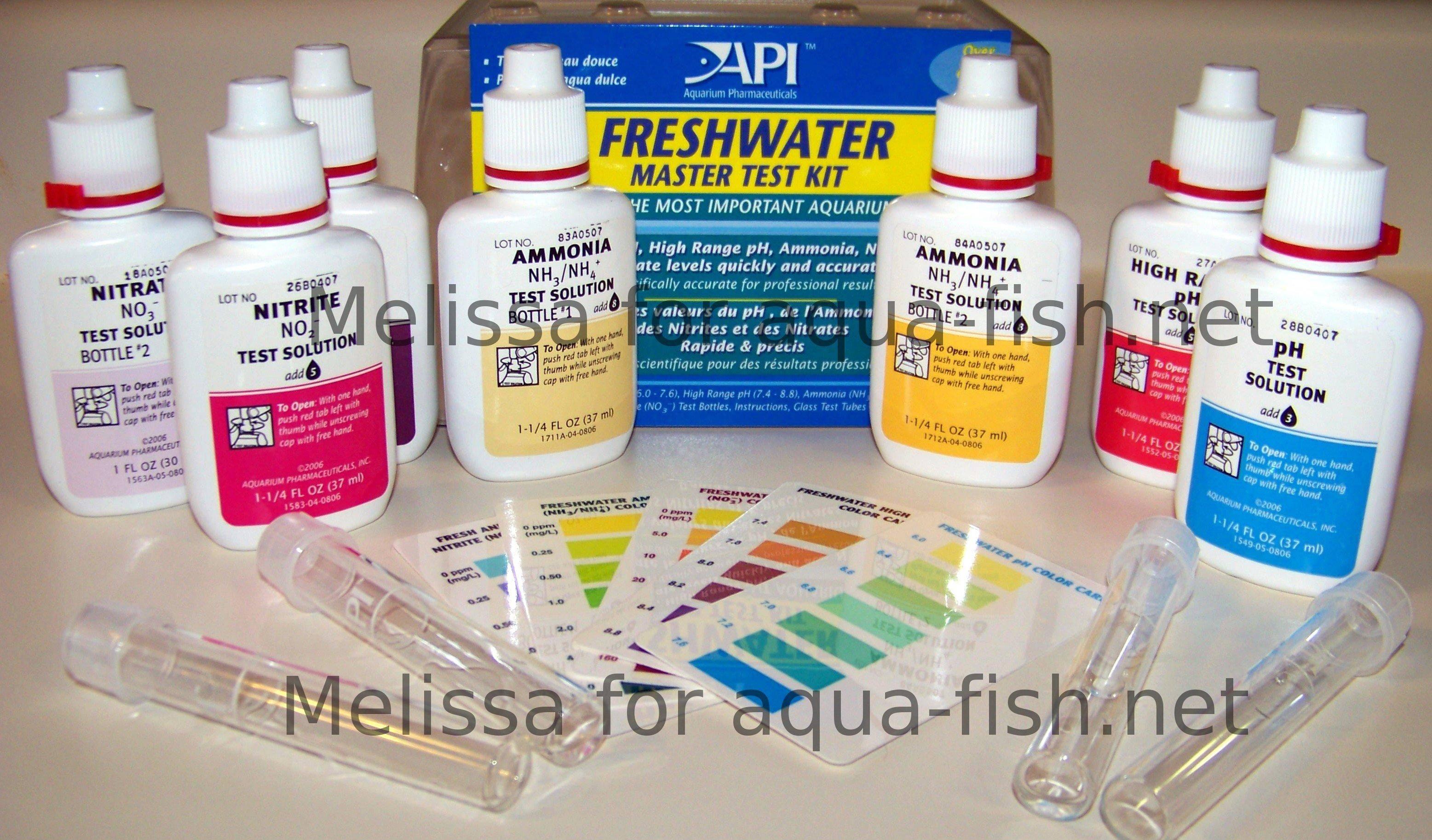 Aquarium et ammoniaque nitrates nitrites for Fish tank water test kit
